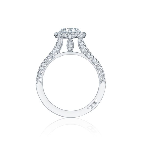 Platinum Petite Crescent Tacori Engagement Ring Image 2 Koerber's Fine Jewelry, Inc. New Albany, IN