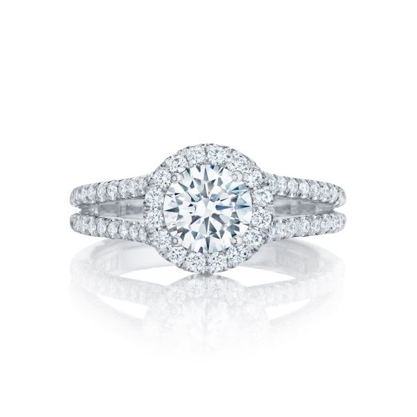 Platinum Petite Crescent Tacori Engagement Ring Koerber's Fine Jewelry, Inc. New Albany, IN