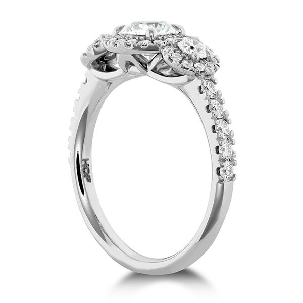 18K White Gold Integrity HOF Three Stone Engagement Ring Image 2 Koerber's Fine Jewelry, Inc. New Albany, IN