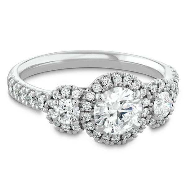 18K White Gold Integrity HOF Three Stone Engagement Ring Image 3 Koerber's Fine Jewelry, Inc. New Albany, IN