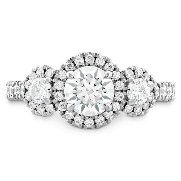 18K White Gold Integrity HOF Three Stone Engagement Ring Koerber's Fine Jewelry, Inc. New Albany, IN