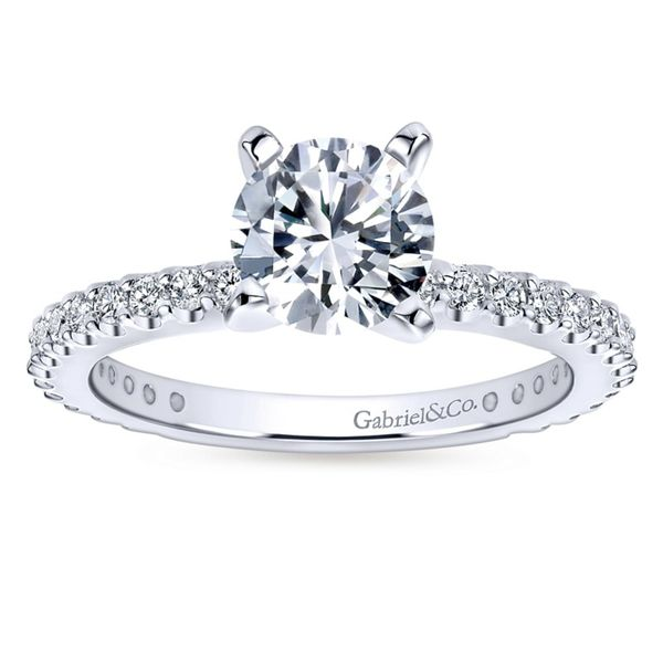 14K White Gold Round Diamond Engagement Ring Image 4 Koerber's Fine Jewelry, Inc. New Albany, IN