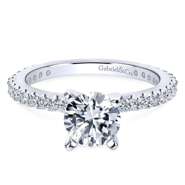 14K White Gold Round Diamond Engagement Ring Koerber's Fine Jewelry, Inc. New Albany, IN