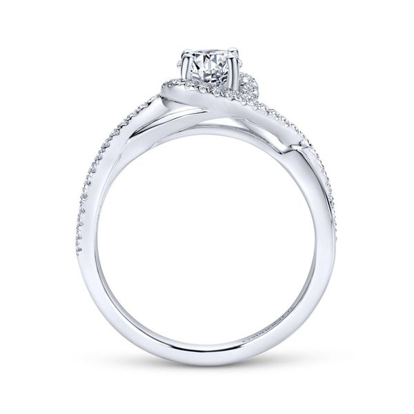 14K White Gold Round Twisted Diamond Engagement Ring Image 2 Koerber's Fine Jewelry, Inc. New Albany, IN