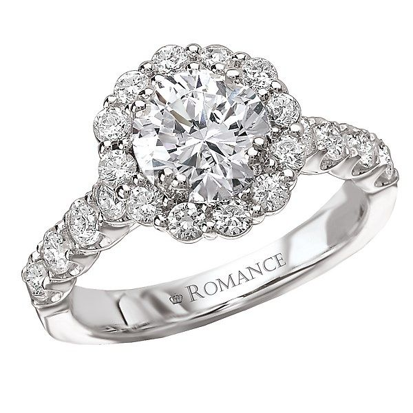 18K White Gold Round Halo Diamond Engagement Ring Image 2 Koerber's Fine Jewelry, Inc. New Albany, IN