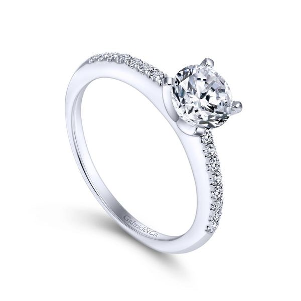14K White Gold Round Diamond Engagement Ring Image 3 Koerber's Fine Jewelry, Inc. New Albany, IN