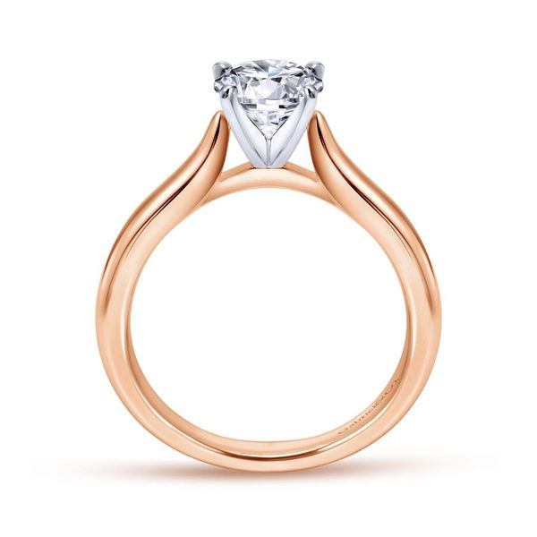 14K White and Rose Gold Round Diamond Engagement Ring Image 3 Koerber's Fine Jewelry, Inc. New Albany, IN