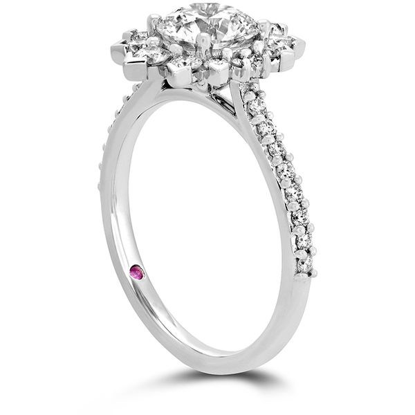 18K White Gold Beati Say It Your Way Oval Engagement Ring Image 2 Koerber's Fine Jewelry, Inc. New Albany, IN