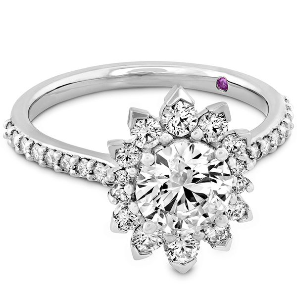 18K White Gold Beati Say It Your Way Oval Engagement Ring Image 3 Koerber's Fine Jewelry, Inc. New Albany, IN