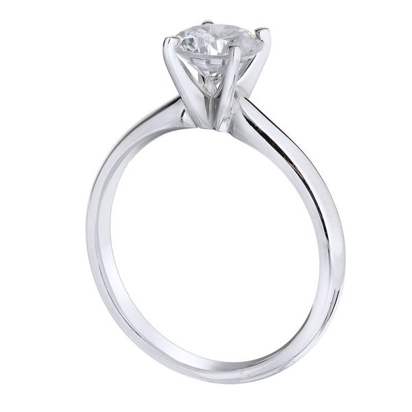 14K White Gold Solitaire Ring Koerber's Fine Jewelry, Inc. New Albany, IN
