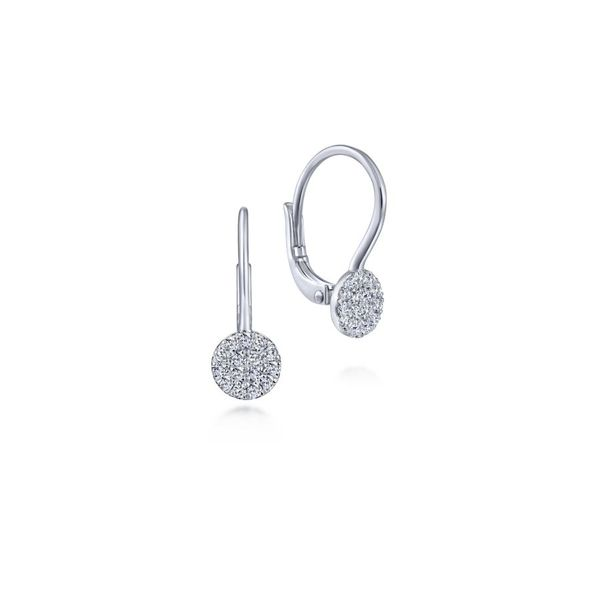 14K White Gold Diamond Drop Earrings Koerber's Fine Jewelry, Inc. New Albany, IN