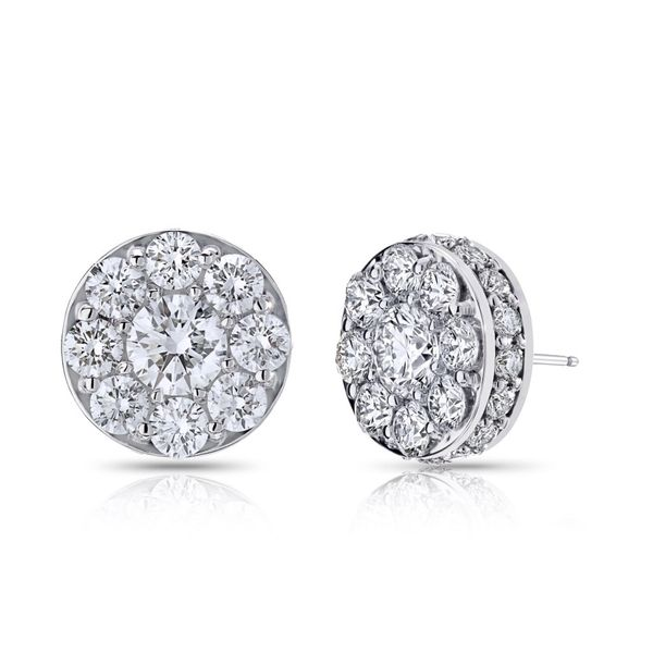 18K White Gold Stud illusion Earrings Koerber's Fine Jewelry, Inc. New Albany, IN