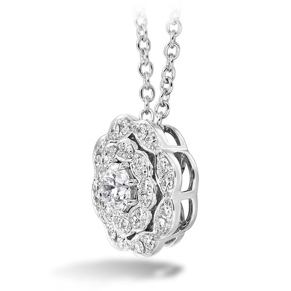 18K White Gold Lorelei Double Halo Diamond Pendant Image 2 Koerber's Fine Jewelry, Inc. New Albany, IN