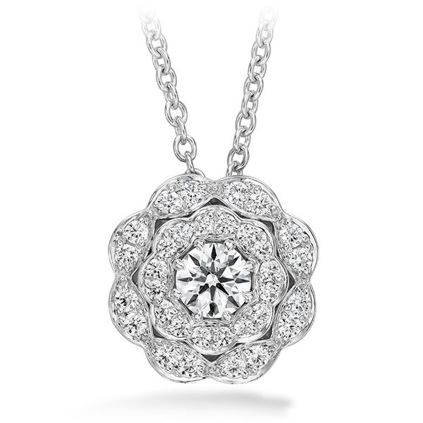 18K White Gold Lorelei Double Halo Diamond Pendant Koerber's Fine Jewelry, Inc. New Albany, IN
