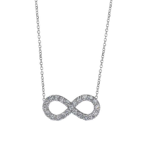 18K White Gold Infinity Shaped Diamond Pendant Koerber's Fine Jewelry, Inc. New Albany, IN
