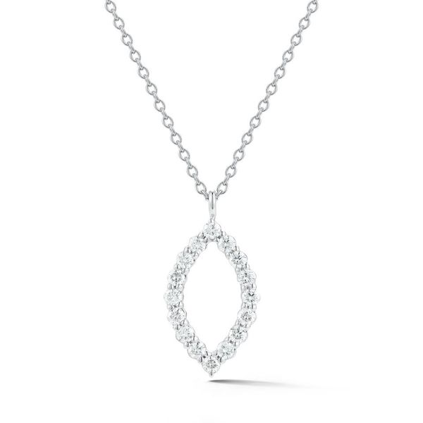 18K White Gold Marquise Shaped Diamond Pendant Koerber's Fine Jewelry, Inc. New Albany, IN