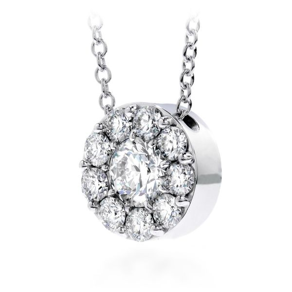 18K White Gold Fulfillment Round Pendant Image 2 Koerber's Fine Jewelry, Inc. New Albany, IN