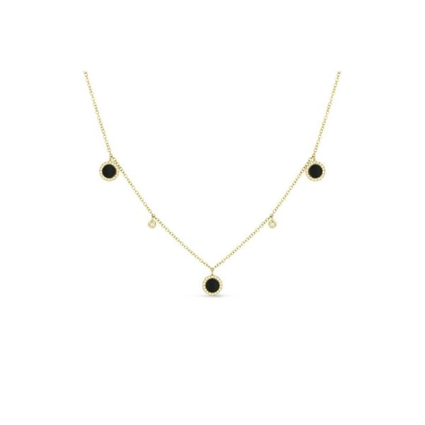 14K Yellow Gold Black Onyx Clover Pendant Koerber's Fine Jewelry, Inc. New Albany, IN