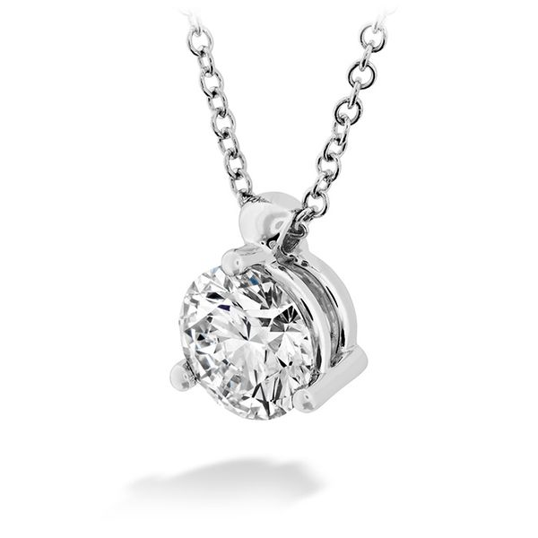 18K White Gold HOF Classic 3 Prong Solitaire Pendant Image 2 Koerber's Fine Jewelry, Inc. New Albany, IN