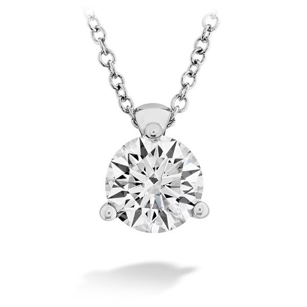 18K White Gold HOF Classic 3 Prong Solitaire Pendant Koerber's Fine Jewelry, Inc. New Albany, IN