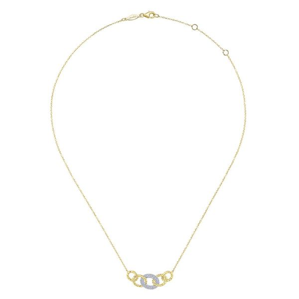 14K Yellow and White Gold Chain Link Diamond Fashion Necklace Image 2 Koerber's Fine Jewelry, Inc. New Albany, IN