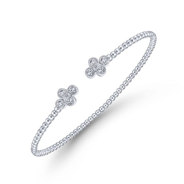 14K White Gold Diamond Fashion Bangle Image 2 Koerber's Fine Jewelry, Inc. New Albany, IN