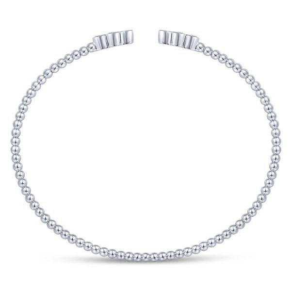 14K White Gold Diamond Fashion Bangle Image 3 Koerber's Fine Jewelry, Inc. New Albany, IN