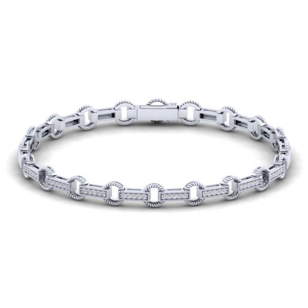 14K White Gold Diamond Fashion Bracelet Koerber's Fine Jewelry, Inc. New Albany, IN