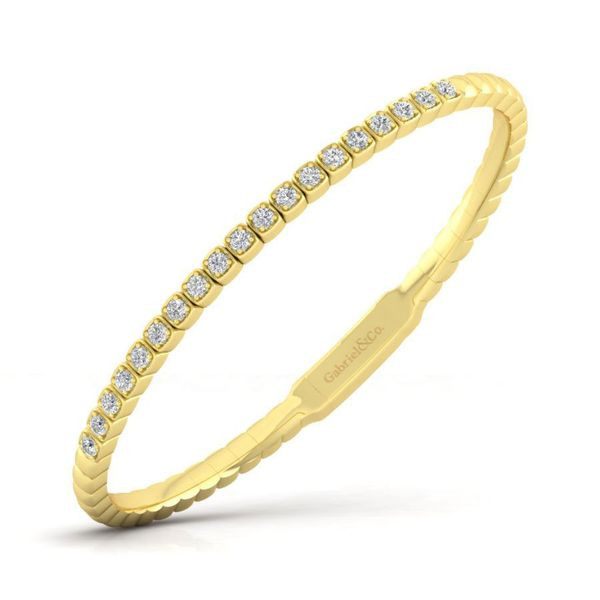 14K Yellow Gold Diamond Fashion Bangle Image 3 Koerber's Fine Jewelry, Inc. New Albany, IN
