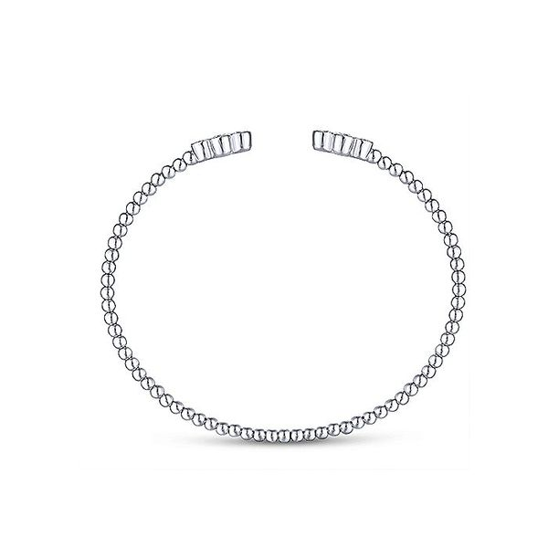 14K White Gold Diamond Motifs Bangle Image 2 Koerber's Fine Jewelry, Inc. New Albany, IN