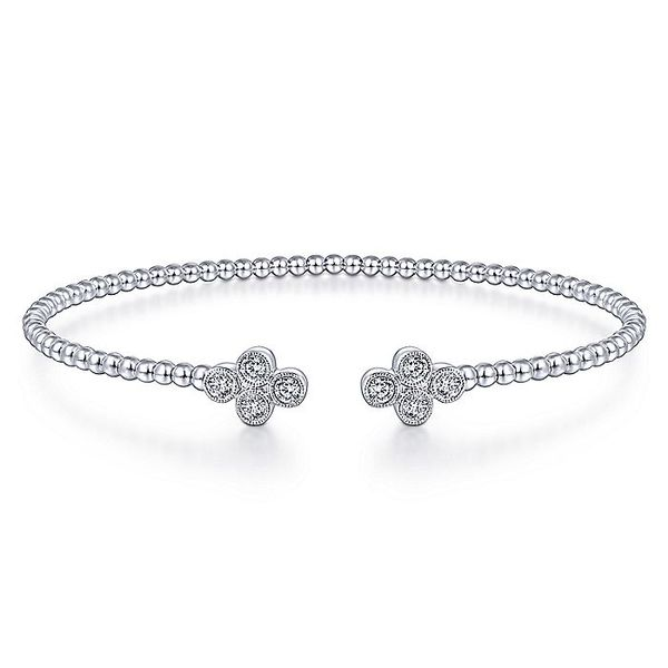 14K White Gold Diamond Motifs Bangle Koerber's Fine Jewelry, Inc. New Albany, IN