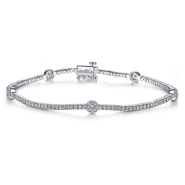 14K White Gold Diamond Tennis Bracelet Koerber's Fine Jewelry, Inc. New Albany, IN