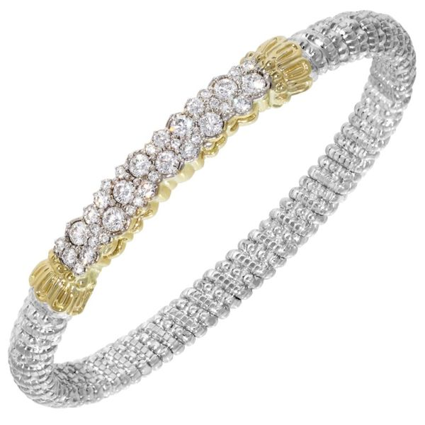 14K Yellow Gold & Sterling Silver Diamond Bracelet Koerber's Fine Jewelry, Inc. New Albany, IN