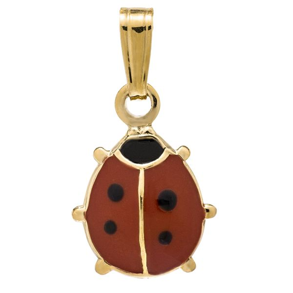 14K Yellow Gold Filled Red Ladybug Pendant on a Chain Image 2 Koerber's Fine Jewelry, Inc. New Albany, IN