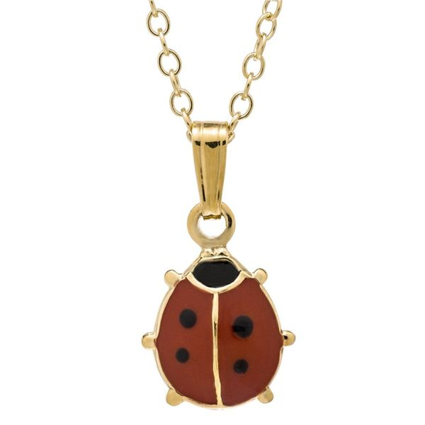 14K Yellow Gold Filled Red Ladybug Pendant on a Chain Koerber's Fine Jewelry, Inc. New Albany, IN