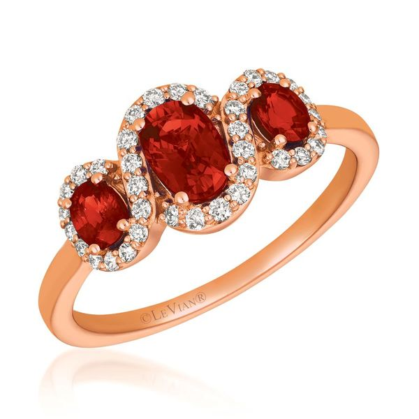 14K Strawberry Gold Passion Ruby Ring with Vanilla Diamonds Koerber's Fine Jewelry, Inc. New Albany, IN