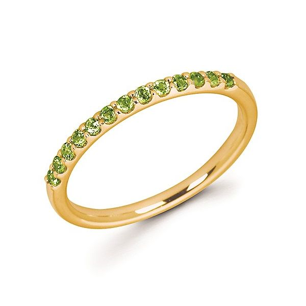 14K Yellow Gold Peridot Stackable Band Koerber's Fine Jewelry, Inc. New Albany, IN