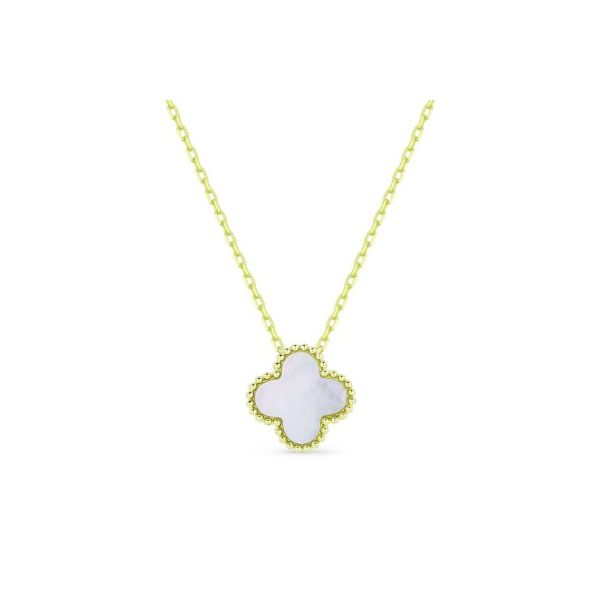 14K Yellow Gold Clover Mother Of Pearl Pendant Koerber's Fine Jewelry, Inc. New Albany, IN