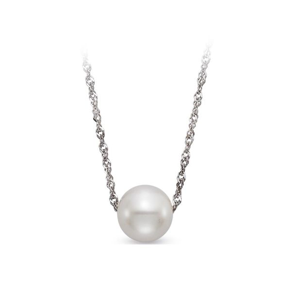 14K White Gold White Freshwater Floating Pearl Pendant Koerber's Fine Jewelry, Inc. New Albany, IN