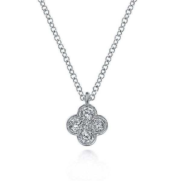 14K White Gold Diamond Fashion Necklace Koerber's Fine Jewelry, Inc. New Albany, IN