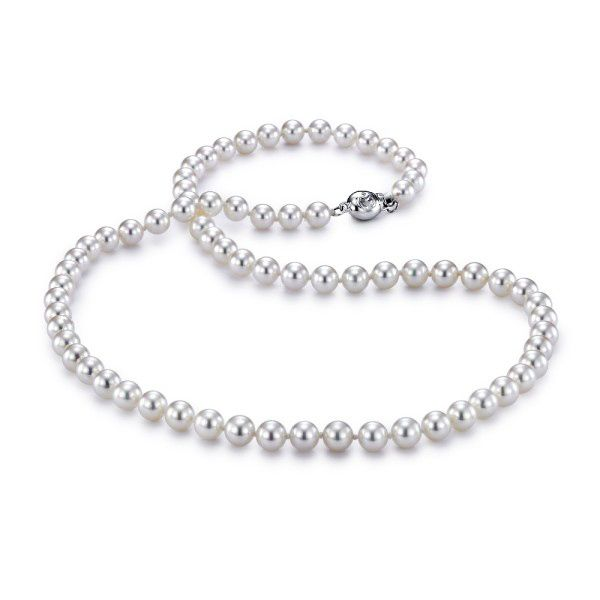 14K White Gold Freshwater Pearl Strand Necklace Koerber's Fine Jewelry, Inc. New Albany, IN