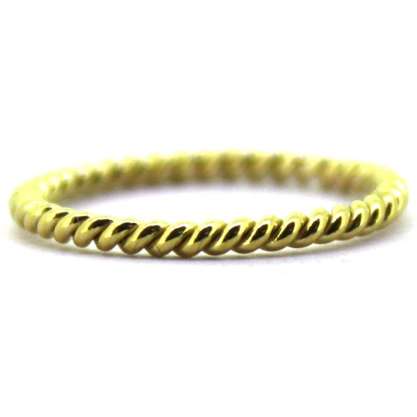 18K Yellow Gold Single Rope Stackable or Wedding Band Koerber's Fine Jewelry, Inc. New Albany, IN