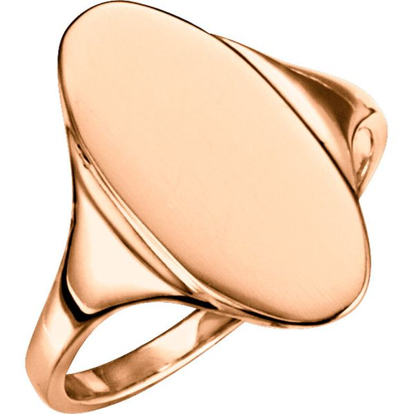 18K Rose Gold  Oval Signet Ring Koerber's Fine Jewelry, Inc. New Albany, IN