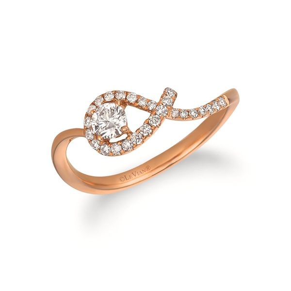 14K Strawberry Gold Twisted Diamond Fashion Ring Koerber's Fine Jewelry, Inc. New Albany, IN
