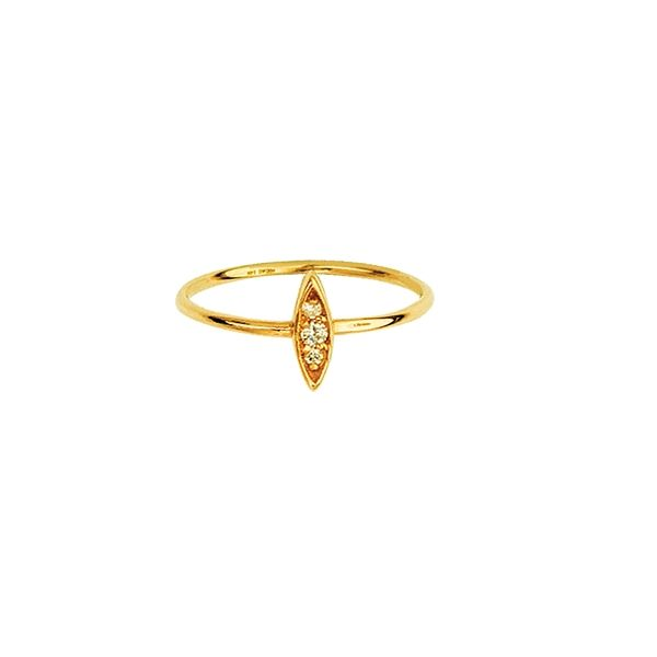 14K Yellow Gold Diamond Marquise shaped Cluster Ring Koerber's Fine Jewelry, Inc. New Albany, IN