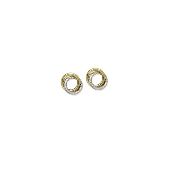 14K Yellow and White Gold Open Love Knot Earrings Koerber's Fine Jewelry, Inc. New Albany, IN