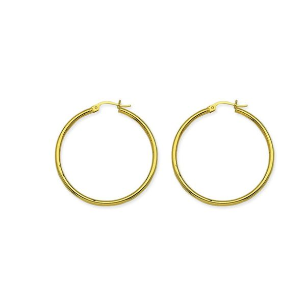 14K Yellow Gold Polished Hoop Earrings Koerber's Fine Jewelry, Inc. New Albany, IN