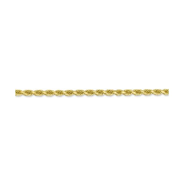 10K Yellow Gold Diamond-Cut Rope Chain Image 2 Koerber's Fine Jewelry, Inc. New Albany, IN