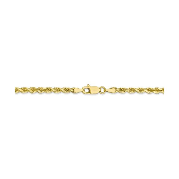 10K Yellow Gold Diamond-Cut Rope Chain Image 3 Koerber's Fine Jewelry, Inc. New Albany, IN