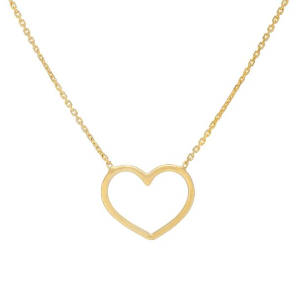 14K Yellow Gold Open Heart Necklace Koerber's Fine Jewelry, Inc. New Albany, IN